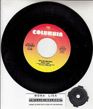 "WILLIE NELSON Mona Lisa  7"" 45 rpm vinyl record + juke box title strip NEW"