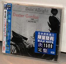 BLUE NOTE CD TOCJ-6660: DEXTER GORDON - Doin' Allright - OOP JAPAN 2006 OBI NEW