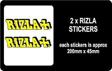 2 X RIZLA MOTORBIKE or CAR STICKERS / GRAPHICS / DECALS