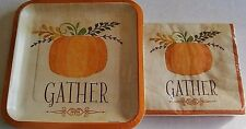 Thanksgiving Paper Plate and Napkin Set  GATHER