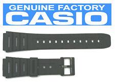 CASIO CA-53W 20mm Black Rubber Watch BAND CA-61W W-520 W-720 W-722 W-741 WL-100