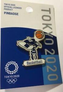 Tokyo 2020 2021 Olympics Official BASKETBALL Miraitowa Mascot Pin Badge