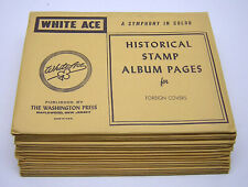 WHITE ACE: FOREIGN COVERS -BLANK PAGES- (19) Packages - NEW/NO STAMPS