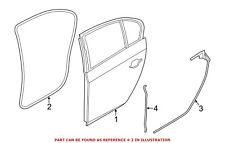 For BMW Genuine Door Seal Rear Left 51767226397