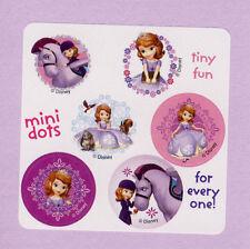 90 Disney Princess Sofia the First Mini Dot Stickers - Party Favors - Rewards