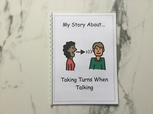 PECS/Boardmaker Conversation Turn Taking Social Story for Autism/ASD/ADHD/SEN