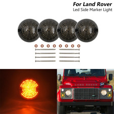 4x Land Rover Defender 90/110 Series 1 2 2A 3 73mm Smoked Led Side Marker Lights