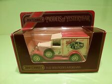 MATCHBOX YESTERYEAR Y-22 FORD MODEL A VAN 1930 - PALM TOFFEE - EXCELLENT IN BOX