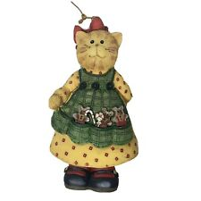 Vintage Cat Christmas Ornament San Francisco Music Box Ruth Ninneman Country '97