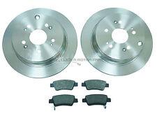 CTDI Delphi Discos De Freno Trasero sólido recubierto Set Par FITS Honda CR-V MK3 2.2i