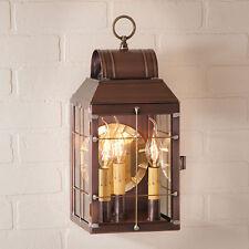 MARTHA'S new Antiqued Copper Outdoor Triple light wall lantern