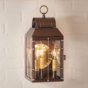Martha's Outdoor Wall Lantern Light in Antique Copper