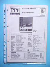 Service Manual-Anleitung für ITT/Schaub-Lorenz SL 73  ,ORIGINAL