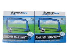 2er Set Fußballtor Pop Up Fußball Garten Tor selbstaufbauend Hockeytor mobil