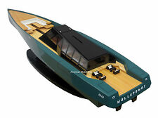"118 WALLY POWER Motor Yacht 36"" - Handcrafted Wooden Ship Model NEW"