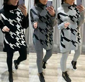 Womens ladies Rough Stripe Long Sleeves Sweatshirt and Leggings Tracksuit