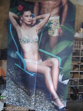 Affiche Lingerie AUBADE tissu cloth fabric Poster Advertising sexy pin up 3