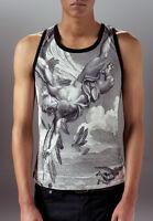 Marteino Men's Silk Icarus Printed Tank Top | Undershirt T Shirt