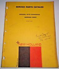 New Holland 975 Combine (Series 1969) Parts Catalog Manual Book NH 3/69 Original