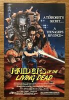Raiders Of The Living Dead Original 11x17 Poster Book 1986 Cult Horror Zombies