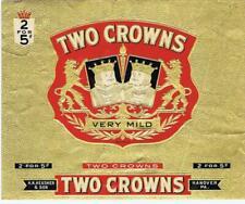 Two Crowns King Playing cards poker gambling cigar box label Heusner Hanover PA