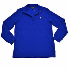 Polo Ralph Lauren Boys Sweater 1/4 Zip Pony Logo Mock Neck Blue Kids Nwt New Xl