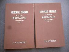 ARMORIAL GENERAL DE FRANCE BRETAGNE CHARLES D'HOZIER