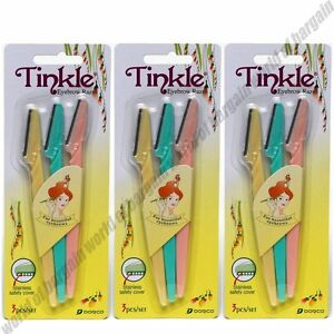 9 x TINKLE EYEBROW RAZOR Face Eye Brow Hair Removal Trimmer Blade Shaver B026
