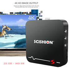 SCISHION Model S 4K H.265 Voice Remote 2.4G WiFi Android 8.1 TV Box 2GB+16GB UK