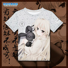 Anime In solitude Kasugano Sora T-shirt Full Color Printing Casual Tee S-XXL