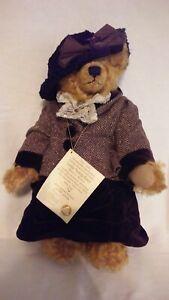 """NWT Limited Edition Hermann Spielwaren 100th Anniversary 16"""" Lady Teddy Bear"""