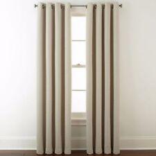 $100 Studio Wallace Set Two Grommet Blackout Curtain Panels Soft Platinum 50 84