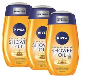 Nivea Natural Oil Shower Oil For Dry Skin  Pampering 3 X 200