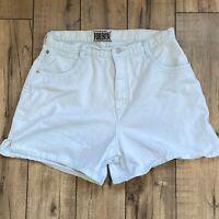 Vintage Forenza High Waist Denim Jean Shorts 80s mint green Size 12