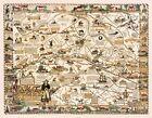 Pictorial+Historical+Map+Main+Line+Philadelphia+Genealogy+11x14+Wall+Art+Poster+