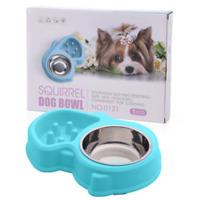 Slow Feeder Dog Bowl Anti Bloat No Gulp Puppy Pet Cat Interactive Feeding Bowl