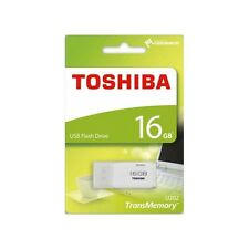 Toshiba 16GB TransMemory USB 2.0 Storage Flash Memory Stick Drive U202 - WHITE