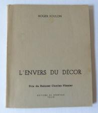 ROGER FOULON L'ENVERS DU DECOR LE SPANTOLE ENVOI 1967