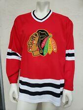 Vintage 90s CHICAGO BLACKHAWKS CCM SEWN Jersey Hockey NHL Mens XL (See Measure)