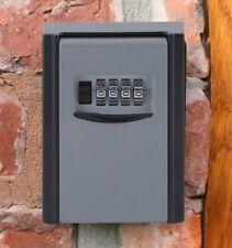 KEY CABINET SAFE Lock Box Security Storage Wall Locker 4 Digit Combination UK MK
