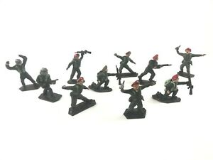 10x Vintage RED BERET BRITISH PARATROPERS - LONE STAR HARVEY SERIES Toy Soldiers
