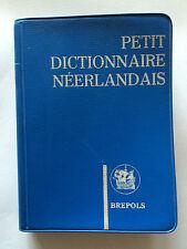 PETIT DICTIONNAIRE NEERLANDAIS FRANCAIS FRANCAIS NEERLANDAIS 1961 BREPOLS