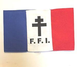 FREE FRENCH ARMY FFI  FRENCH RESISTANCE Armband (TRI)
