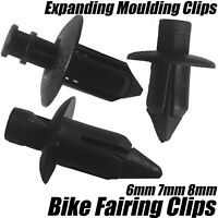 30x Motorbike Cycle Fairing Body Work Panel Cowl Trim Clips 8mm 7mm 6mm Hole