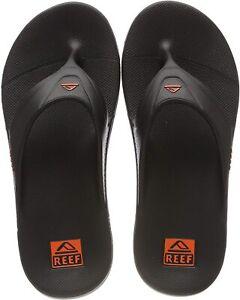 REEF Men's One Sandal Flip Flop Sandals Size 13 Grey/Orange