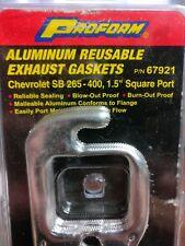 "Proform Aluminum Exhaust Header Gaskets 67921 Chevy SB 265-400 1.5"" Square Port"