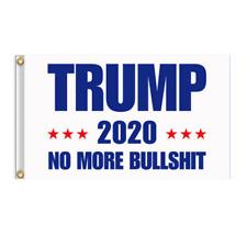 White Trump Flag No More BS 2020 Make America Again 3x5 Feet MAGA Flag Banner
