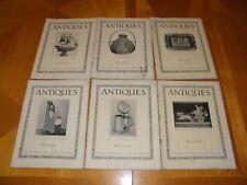 Antiques Magazine V6#1-6 Late 1924 Furniture Clocks Textiles Glassware Art FRGD