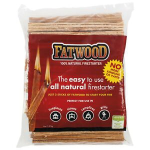 Genuine Fatwood All Natural Fire Ignition Firelighter 1.8kg