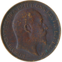 1907 ONE FARTHING OF KING EDWARD VII.  /HIGH GRADE NICE COLLECTIBLE  #WT5349